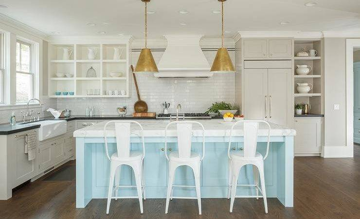 Light Blue Kitchen Island Excellent