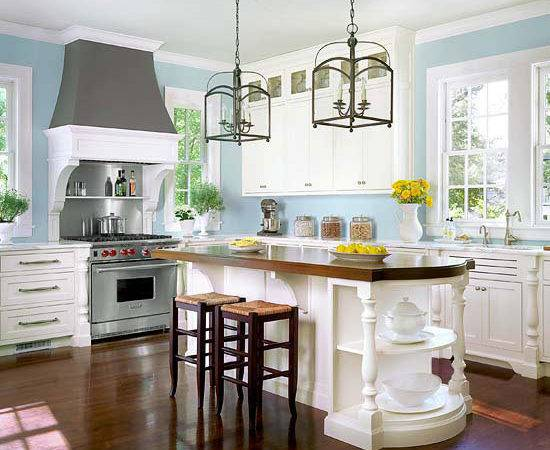 Light Blue Kitchen Walls Home Design Decor Reviews
