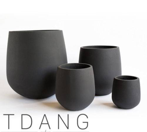 Light Cement Giant Bowl Pots Vietnam Planter