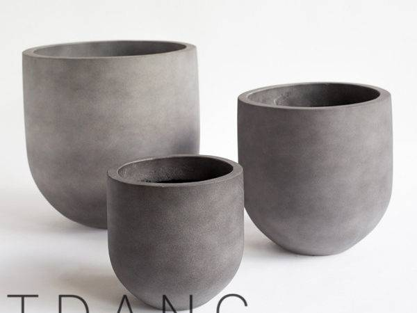 Light Cement Round Pots Tdang