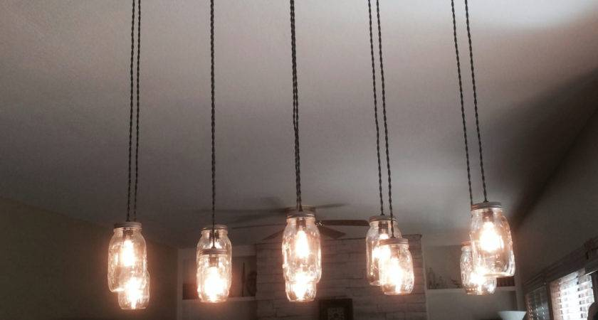 Light Diy Mason Jar Chandelier Rustic Cedar Wood