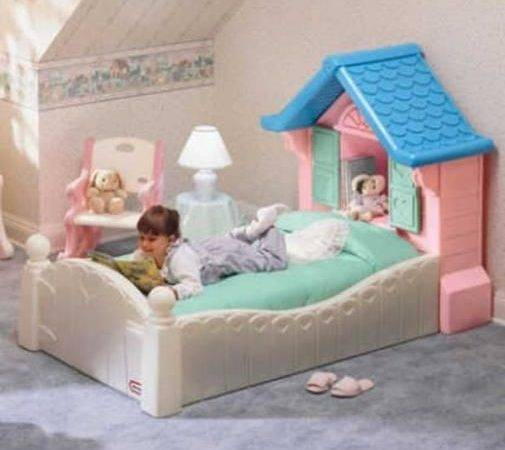 Little Tikes Doll House Toddler Bed Like Newrare