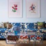 Living Room Blanket Coffee Table Storage Floral
