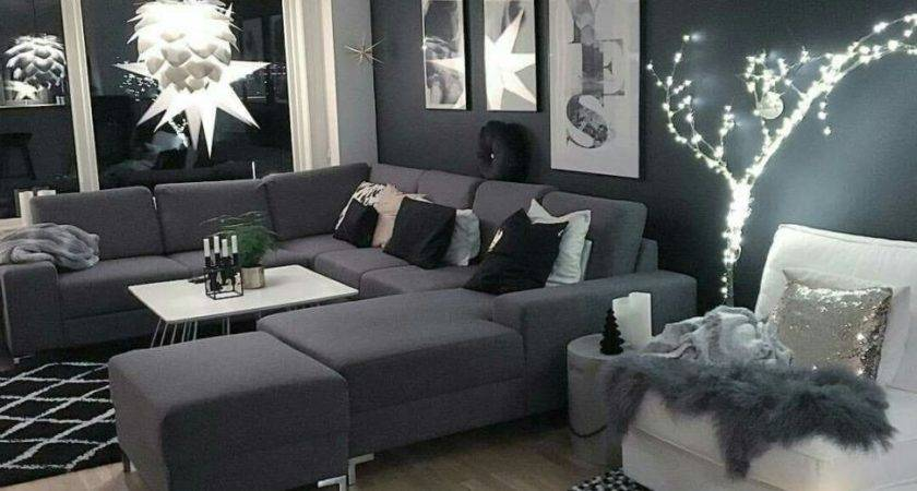 Living Room Grey Themed Paint