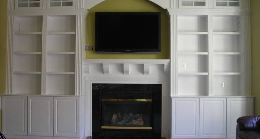 Living Room Tall White Wooden Bookcase Cream