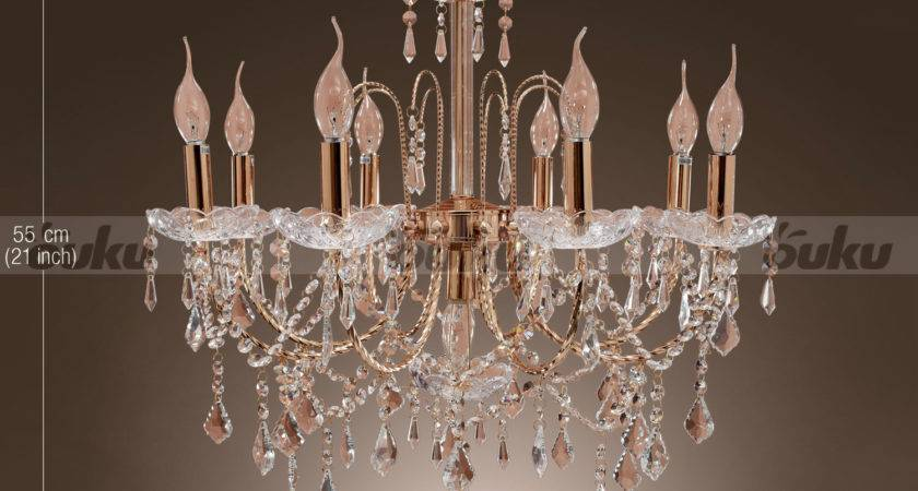 Lodge Rustic Crystal Candle Shape Chandelier Ceiling Light
