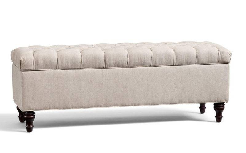 Lorraine Tufted Storage Bench Pottery Barn