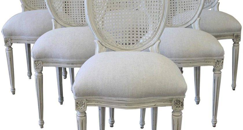 Louis Xvi Style Cane Back Dining Chairs Stdibs