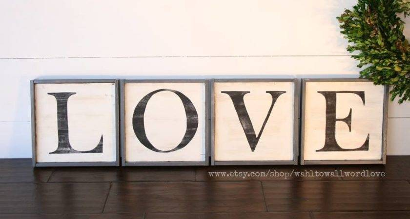Love Letter Signs Distressed Wood Sign