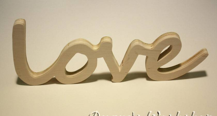 Love Sign Diy Wall Hanging Wooden Believe