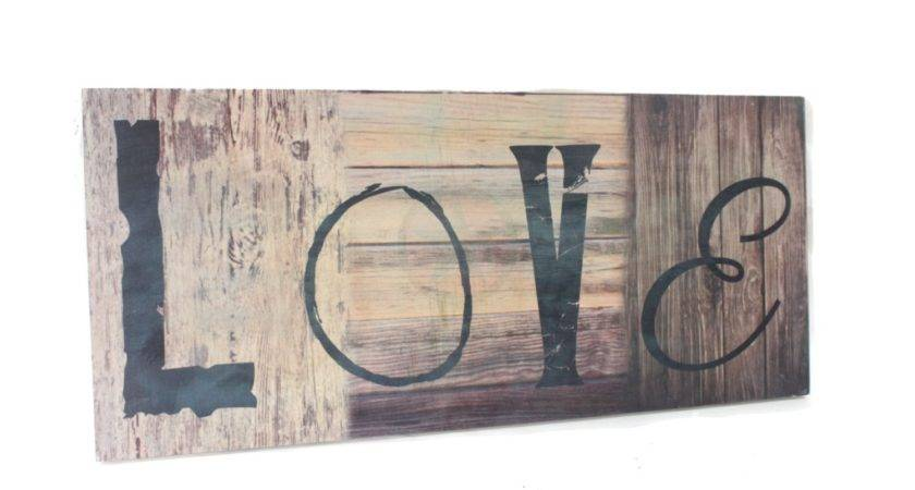 Love Wooden Sign Personalized Wood Signs