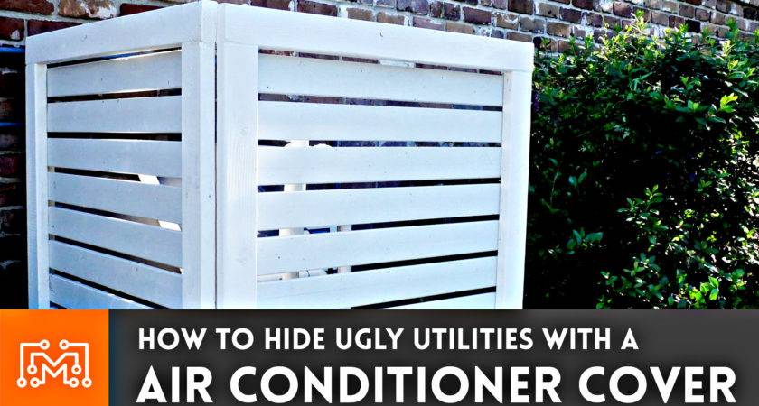 Make Air Conditioner Cover Fence Like