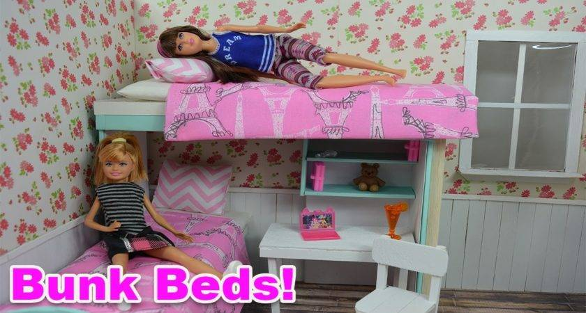 Make Barbie Bunk Bed Youtube