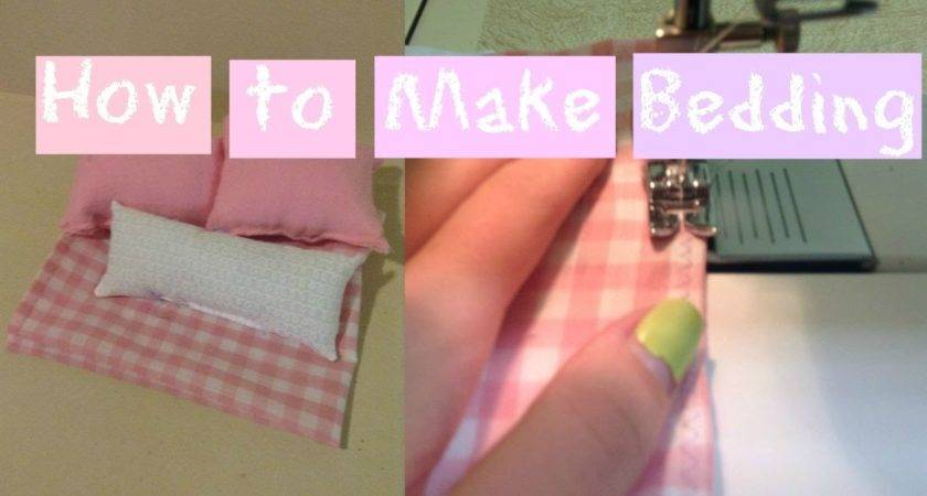 Make Bedding Doll Bed Easy Youtube