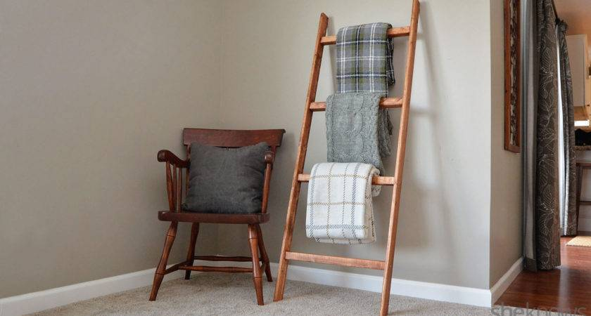 Make Blanket Ladder Easy Diy Project Perfect