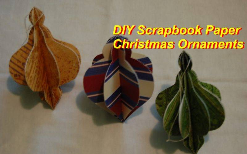 Make Christmas Tree Ornaments Out Scrapbooking