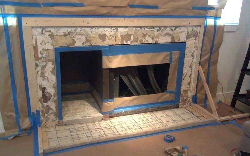 Make Concrete Fireplace Surround Six Simple Steps