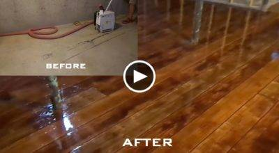 Make Concrete Look Like Wood Flooring Canfty