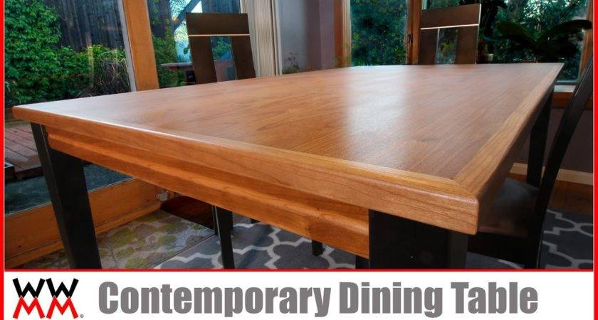 Make Contemporary Dining Table Diy Furniture
