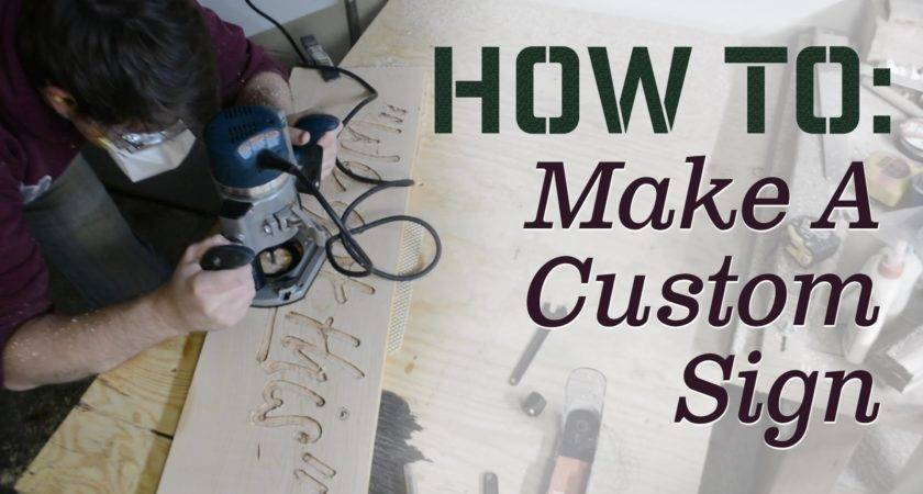 Make Custom Sign Carving Using Woodworking