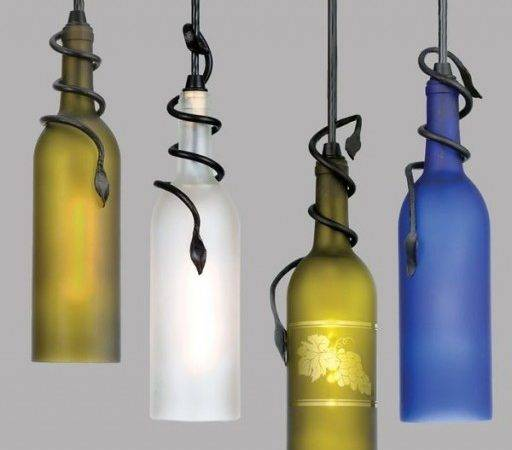 Make Diy Recycled Wine Bottle Pendant Lights Tag
