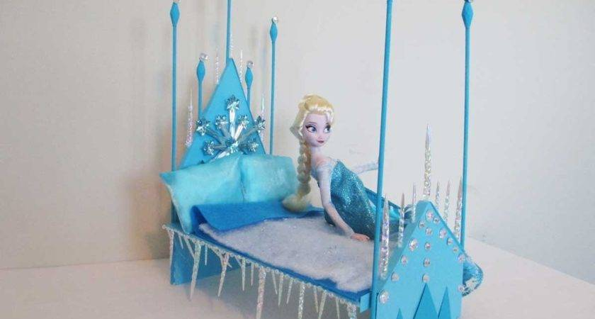 Make Elsa Doll Bed Tutorial Disney Frozen Youtube
