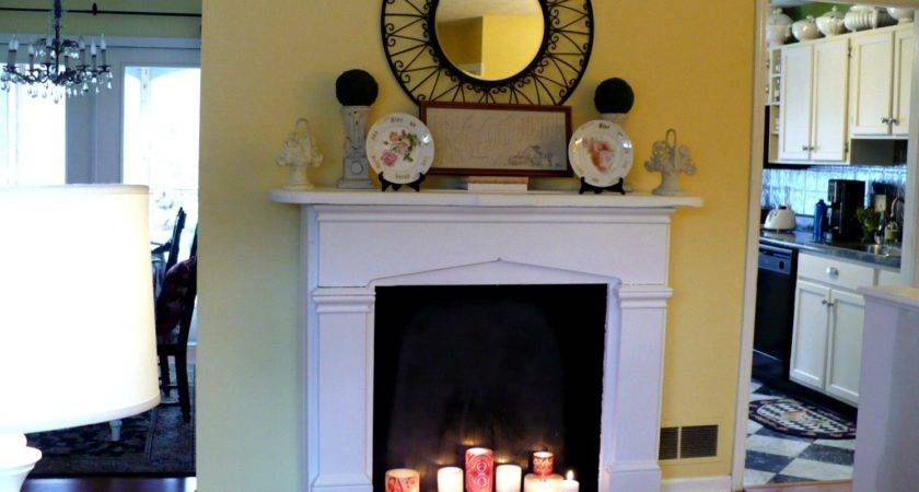 Make Faux Fireplace Cultivated Nest