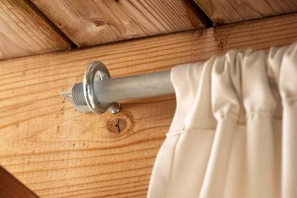 Make Inexpensive Curtain Rods Your Front Porch