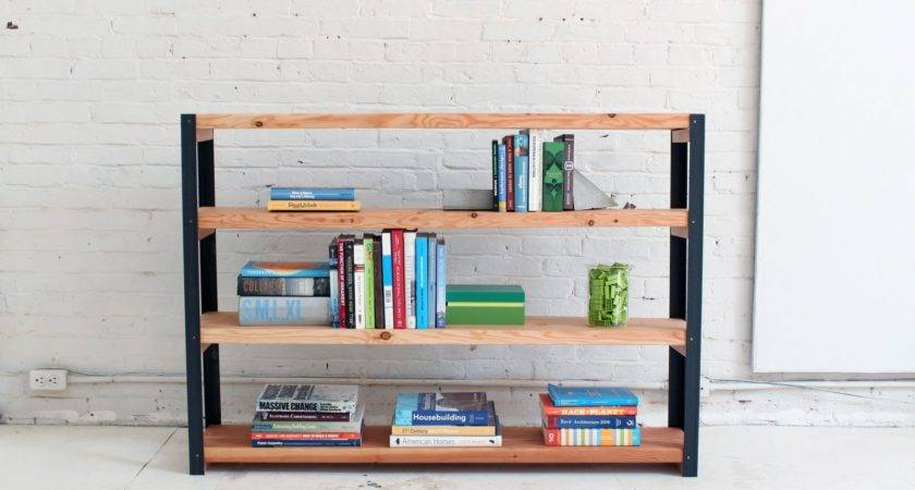 Make Ironbound Diy Bookcase Out Angle Irons