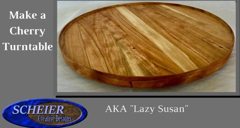 Make Lazy Susan Cherry Turntable Woodworking