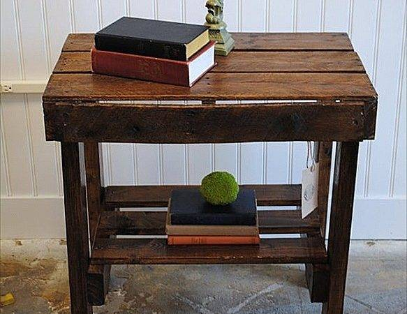 Make Pallet End Table Beautiful Made