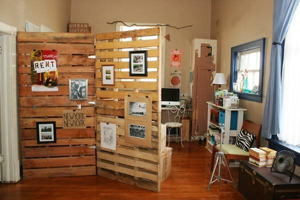 Make Pallet Room Divider Wooden Furniture
