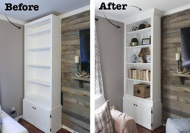 Make Prefab Bookcases Look Like Built Ins Ehow
