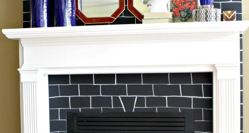 Make Quick Brick Fireplace Makeover Kvriver