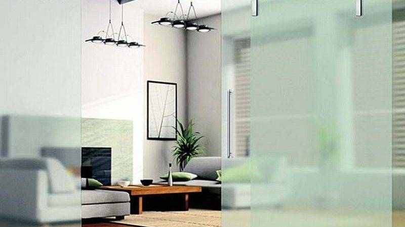 Make Room Divider Frameless Slidding Glass Design