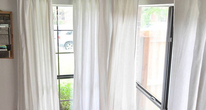 Make Sew Bleached Drop Cloth Curtains Our