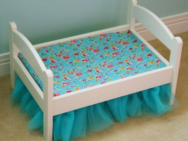 Make Tulle Bedskirt Ikea Duktig Doll Bed