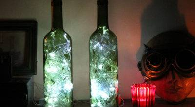 Make Wine Bottle Accent Lights