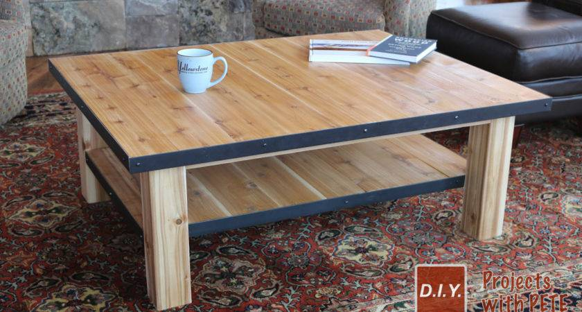 Make Wood Coffee Table Steel Accents