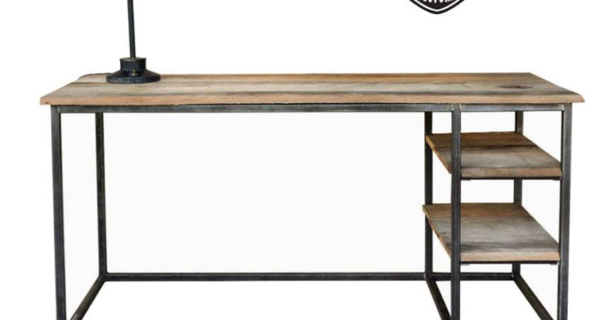 Make Your Office More Eco Friendly Reclaimed Wood Desk