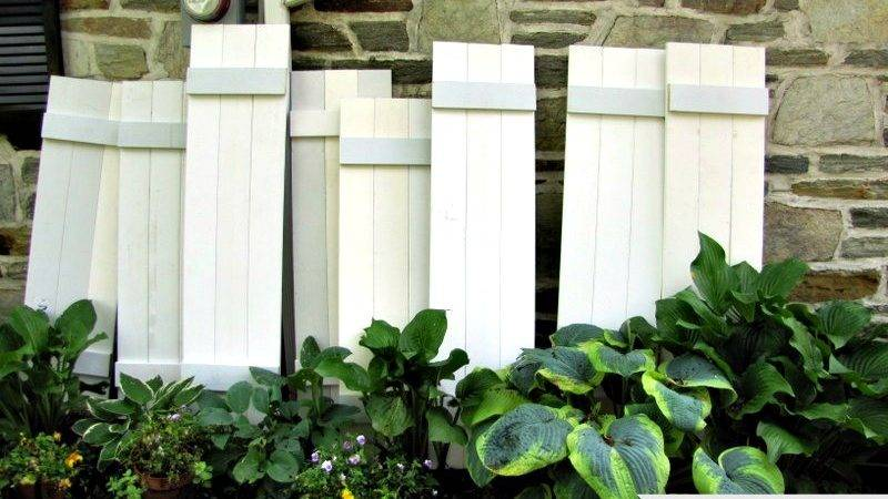 Make Your Own Exterior Shutters Dream Home