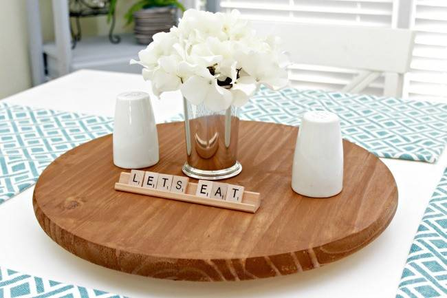 Make Your Own Lazy Susan Table Mom Real