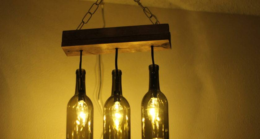 Making Wine Bottle Chandelier Laura Makes