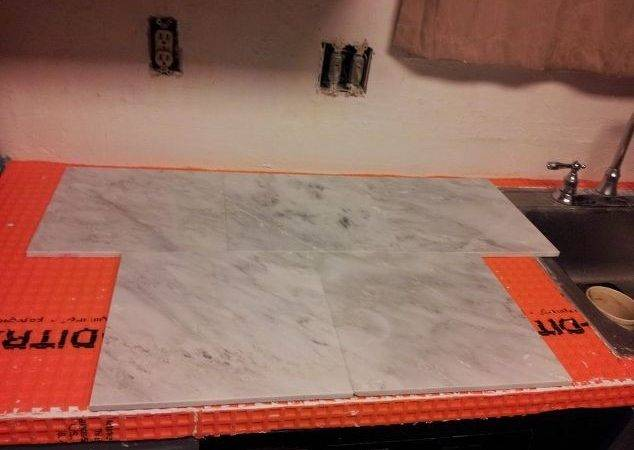 Marble Countertop Hack Tile Over Laminate