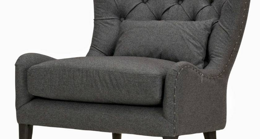 Marley Tufted Wing Chair London Flannel Usa Warehouse