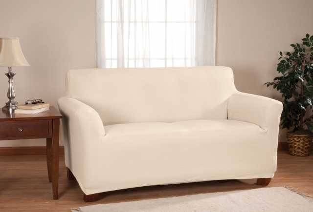 Marvelous Decorations Comfort White Loveseat Slipcover