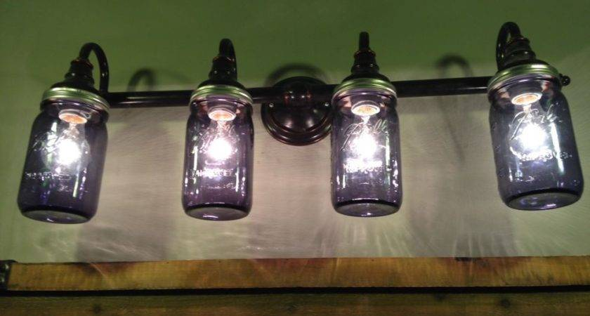 Mason Jar Bathroom Vanity Lights Custom Made Your