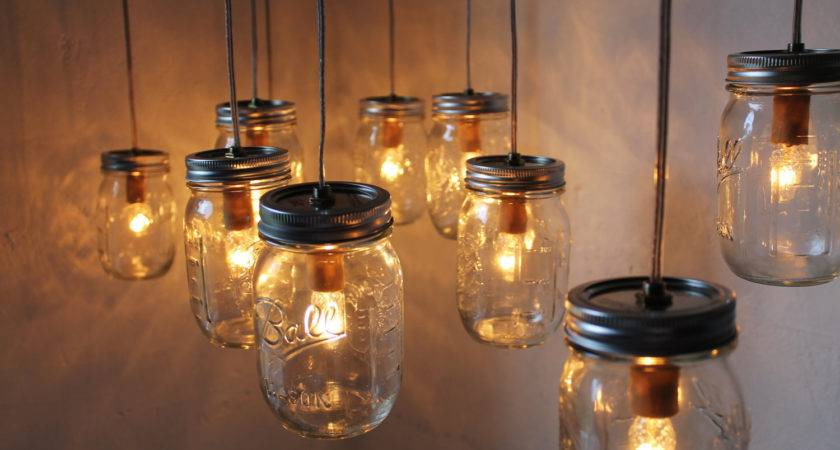 Mason Jar Chandelier Bootsngus Handcrafted Canopy