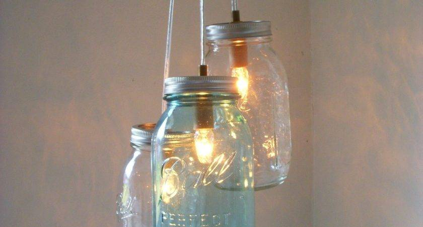 Mason Jar Chandelier Hanging Pendant Lighting