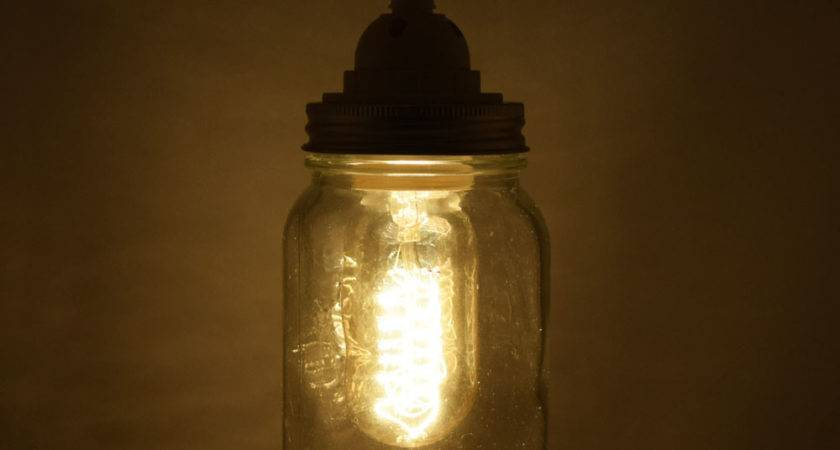 Mason Jar Pendant Light Kit Wide Mouth White Cord